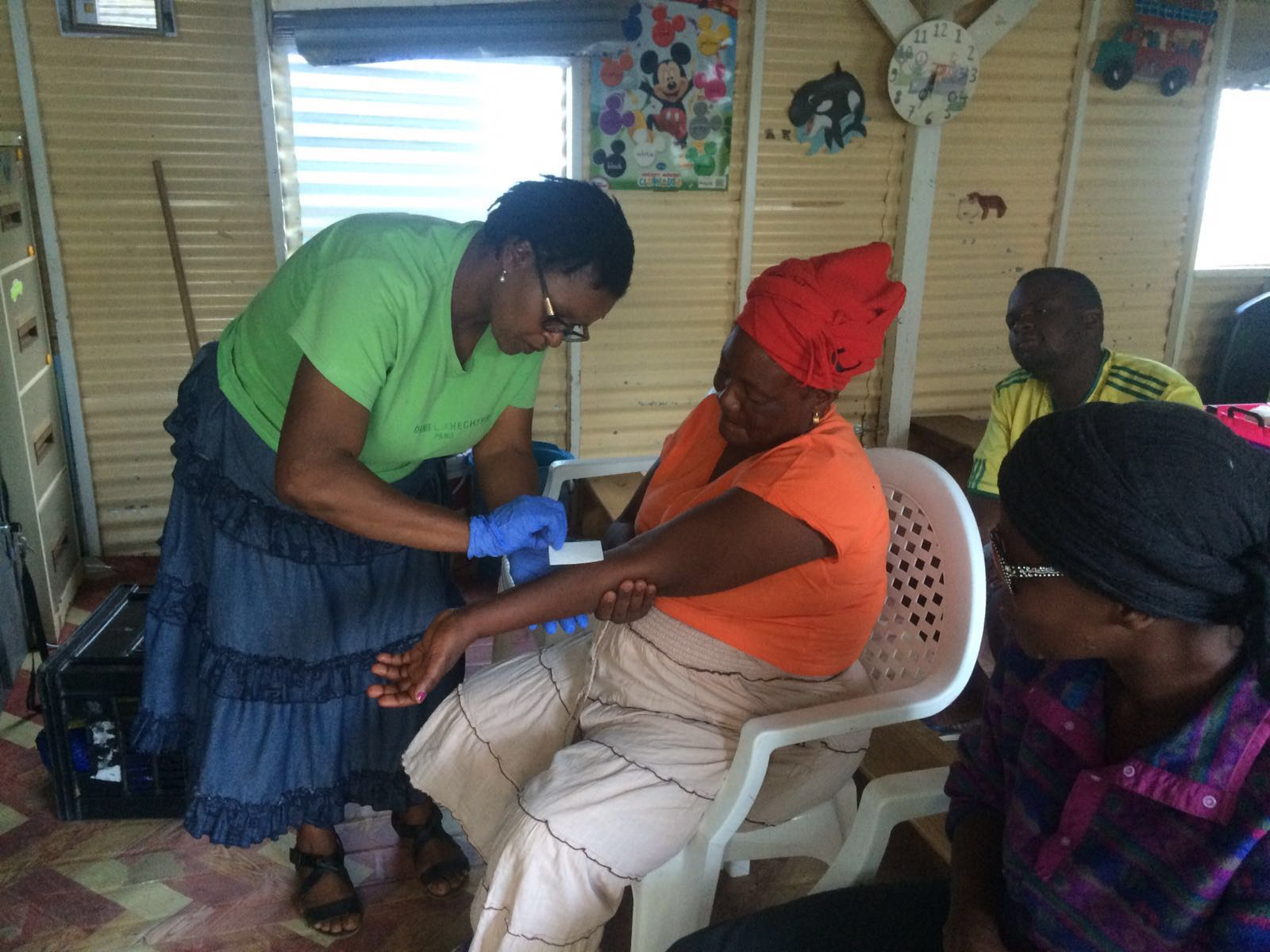 Wound care project for the staff of Home of Good Hope