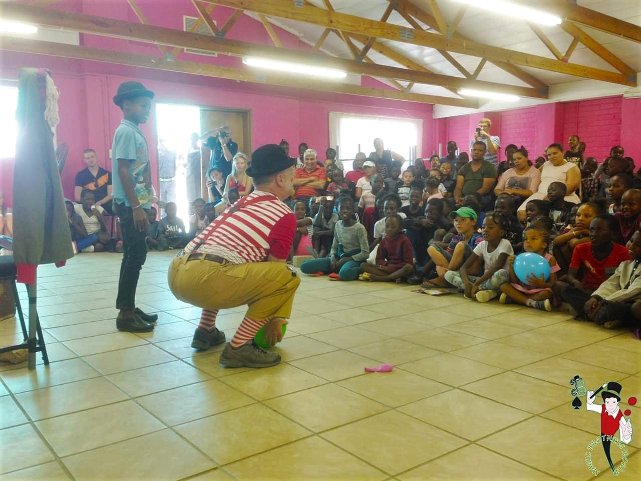 Children of Home of Good Hope entertained with cheerful show